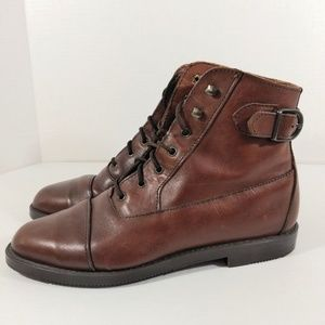 Brown Leather Ankle Boot by White Mountain